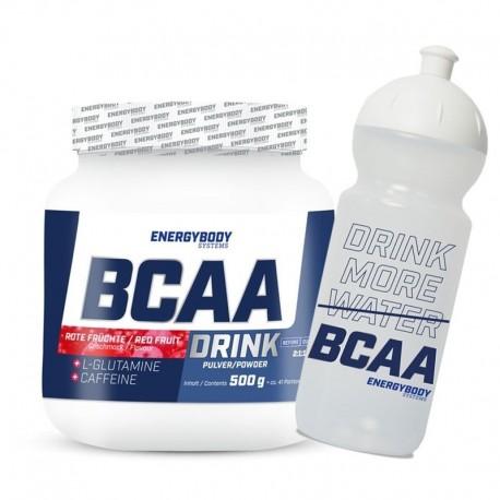 BCAA Drink 500g red fruits + sportovní lahev ZDARMA