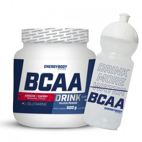 BCAA Drink 500g cherry + sportovní lahev ZDARMA
