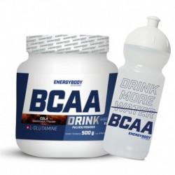 BCAA Drink 500g cola + sportovní lahev ZDARMA
