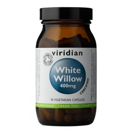 White Willow Bark 400mg 90 kapslí Organic