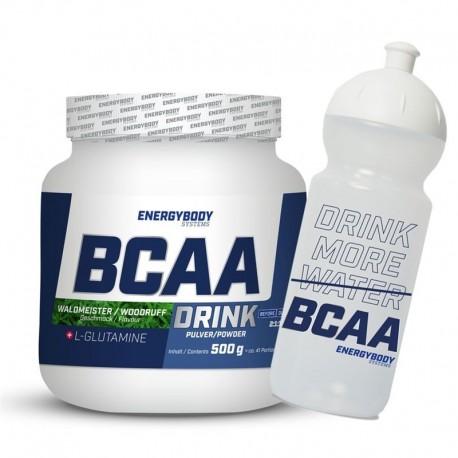 BCAA Drink 500g mařinka + sportovní lahev ZDARMA