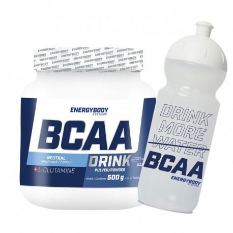 BCAA Drink 500g natural + sportovní lahev ZDARMA
