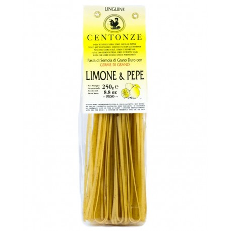 Pasta Limone & pepe (Citrón & černý pepř) 250g